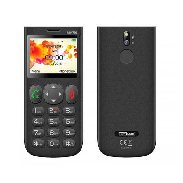 Maxcom comfort mm750 negro móvil senior 2.3'' cámara 2mp bluetooth microsd botón sos