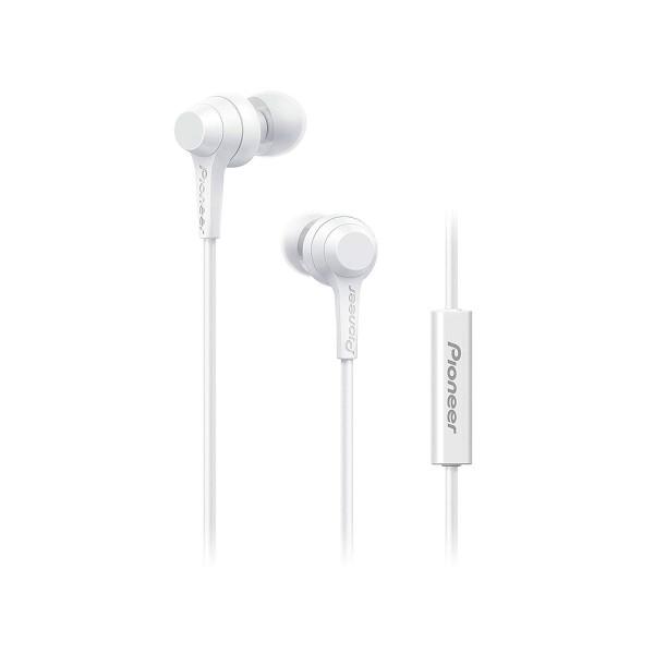 Pioneer se-c1t blanco auriculares con micrófono de alta calidad