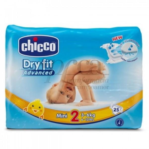 PAÑALES CHICCO T2 MINI 3-6KG 25U