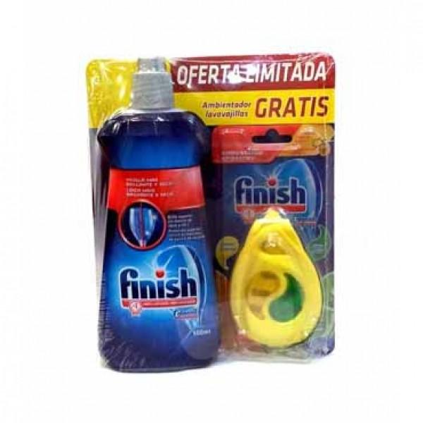 Finish abrillantador 500ml + ambientador Finish limón